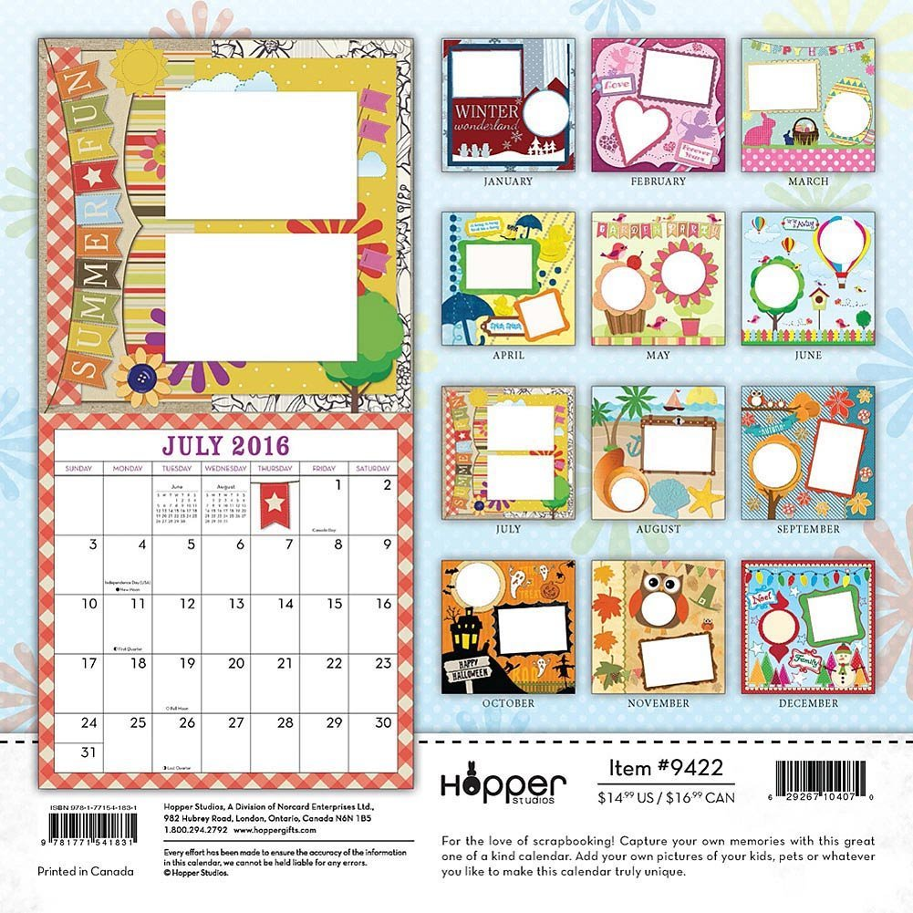 Blank Calendar Kit : Make my own calendar blank kit unique