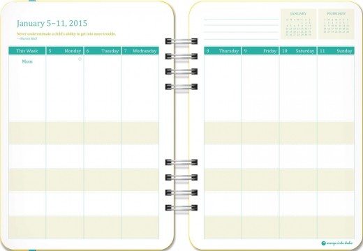 The inside of the Do-It-All Mom Planner.