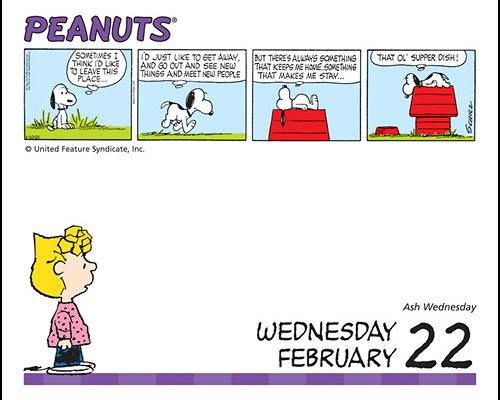 Snoopy desk calendars  2020-2021
