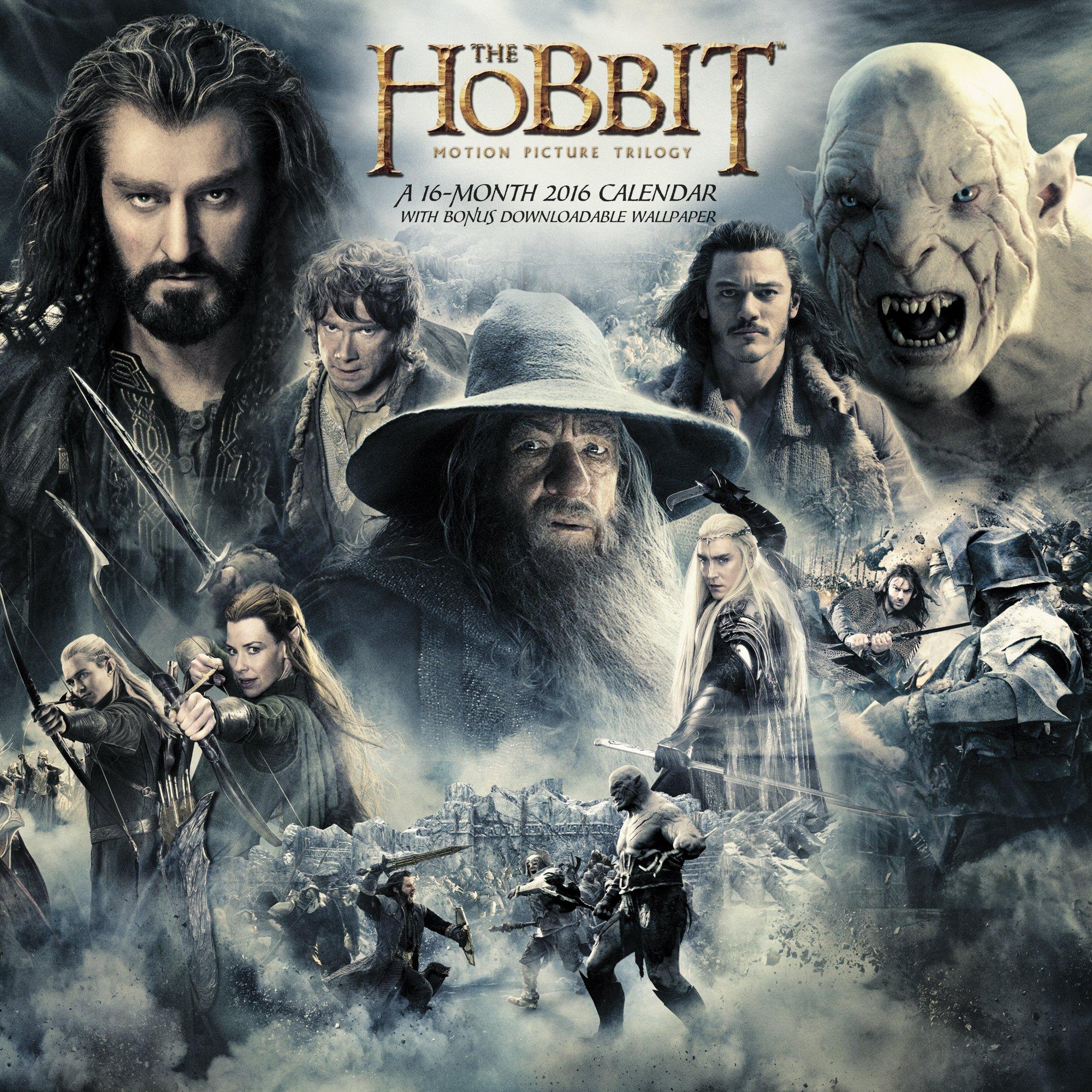 Hobbit Movie Wall Calendar 2017